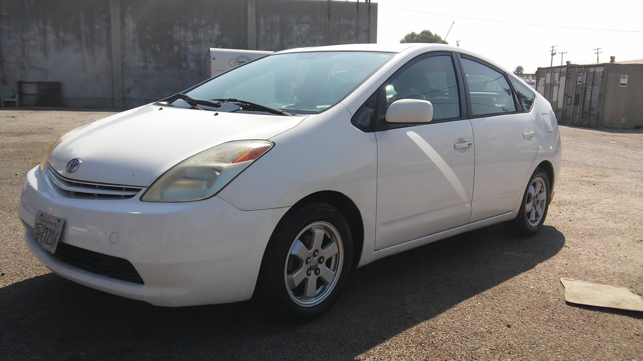 Another donation for charity -- white prius